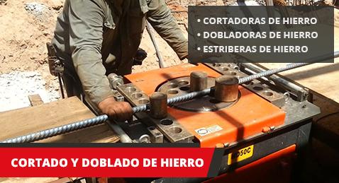 Máquinas cortadoras y dobladoras de hierro